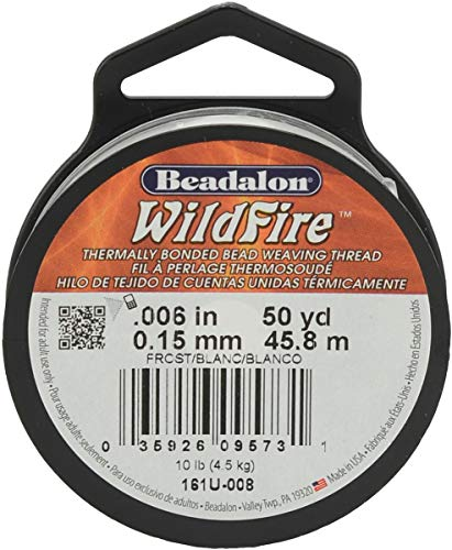 """Wildfire Stringing Thread .006""""X50'-Frost"""