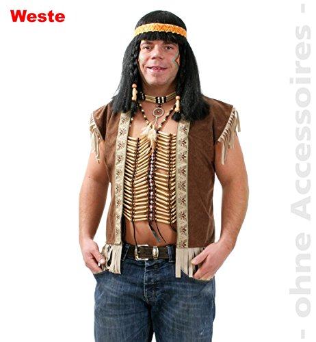 Indianer Weste Indianerweste Unisex Gr. L
