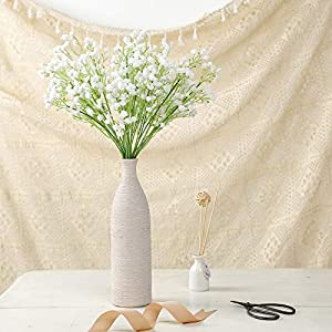 Efavormart 12 Pack – 22″ White Babys Breath Artificial Flowers, Gypsophila Real Touch Silk Flowers Stem for DIY, Wedding, Party, Home, Floral Arrangement, Garden Decoration