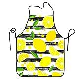 Delantal de chef Blacktripe de limonada, delantal con peto para hombres y...