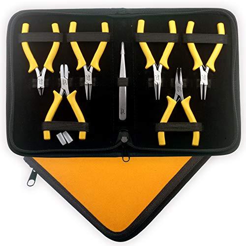 Professionell Goldschmiedebedarf Mini Kit Zangen Set Perlung Werkzeugset mit Nylon Kieferzangen #1778
