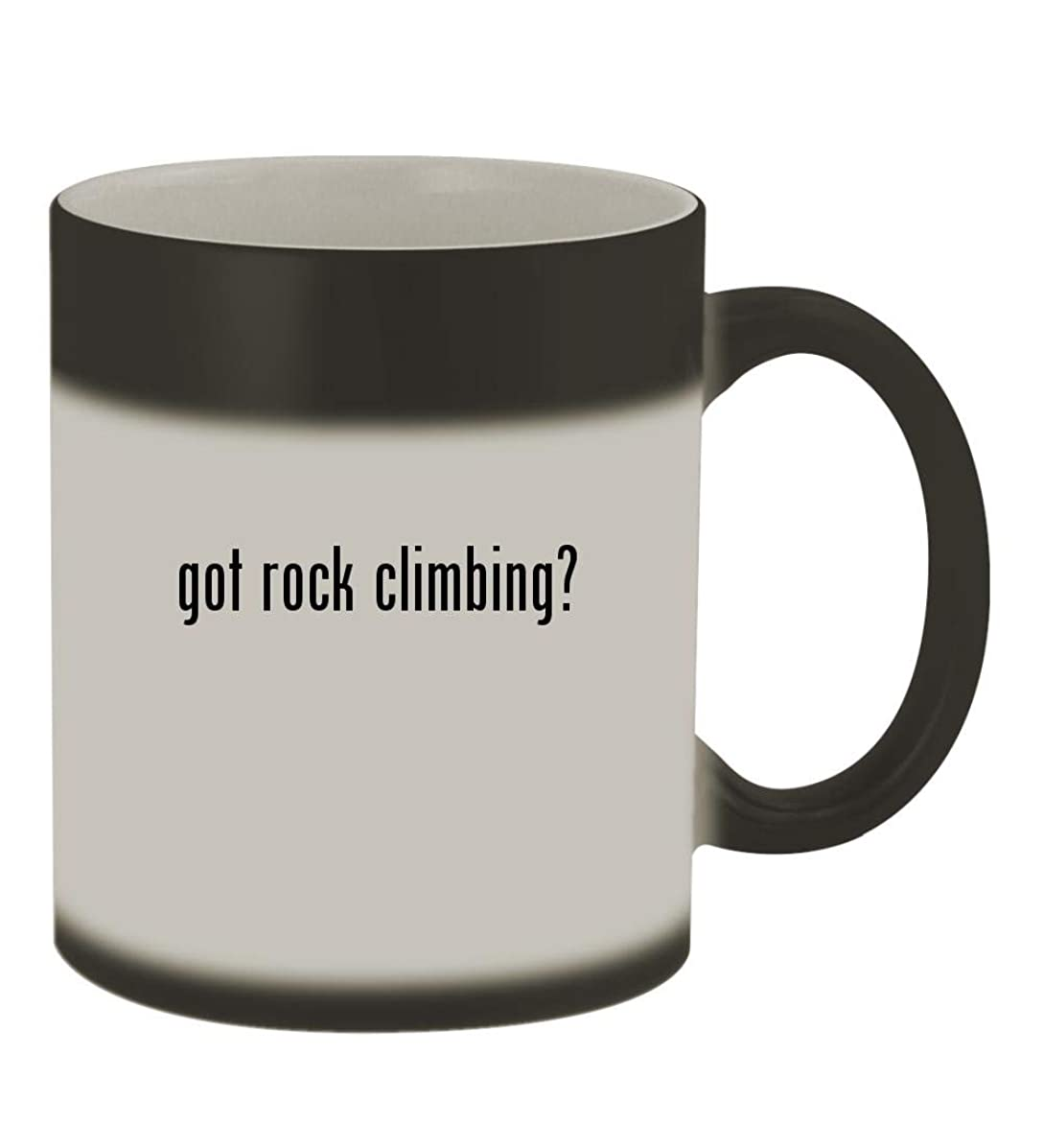 got rock climbing? - 11oz Color Changing Sturdy Ceramic Coffee Cup Mug, Matte Black