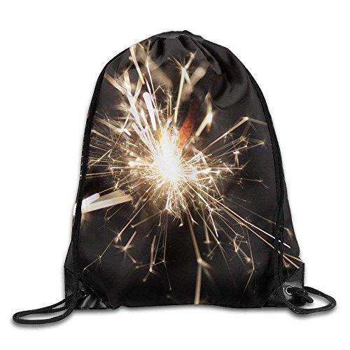 Schöne Fireworks Gym Kordelzug Rucksack Unisex tragbare Sack Taschen 14 x 16,5 Zoll