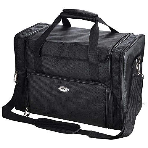 AW 1200D Oxford Pro Black Soft Makeup Train Bag Case Pockets 17x9x12 Artist Cosmetic