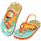 Toddler Boys Girls Sandals with Elastic Back Strap Kids Flip Flops for Swim Beach Water Shoes(Toddler)