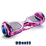 Balanced car,9-inch Two-Wheeled self-Balancing Scooter with Bluetooth Speakers and LED Lights for Adults and Children,E