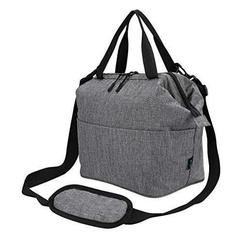 Lunch Bag Box Insulated Lunch Tote Bag Cooler, Extra Pocket Shoulder Strap For Meal Prep Men Women Adults 9 Cans (Grey
