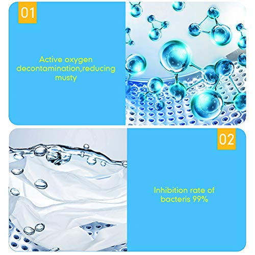 Mowtom 12 pieces washing machine cleaning tablet deep stain remover washing machine cleaner eliminates unpleasant smell
