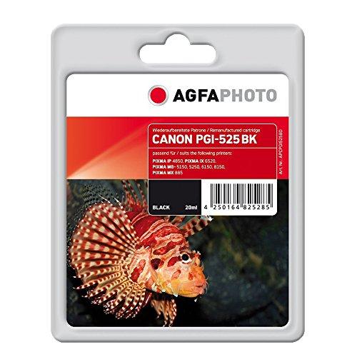 AgfaPhoto APCPGI525BD PGI-525 BK mit Chip Druckerpatrone für Canon, schwarz