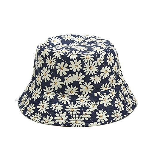 ZZTHJSM Gorro de Pescador Mujer Plegable Bucket Hat Al Aire Libre Algodón Impresión para Senderismo Camping y Playa Doble Cara Sombrero del Pescador Unisex