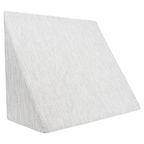 XL Almohada de cuña para sala de estar y dormitorio, cojín de lectura, almohada de relajación, respaldo flexible, cojines de embarazo, almohadas de lactancia // para tumbarse y sentarse (blanco)