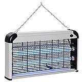 Outsunny Elettroinsetticida da Esterno e Interno con Lampada Antizanzare LED per 60m², Zanzariera...
