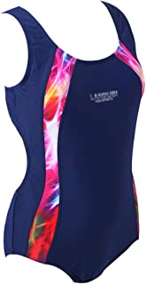 Girl Professional Competitive Racerback Swimsuit One-Piece Athletic Bathing Suit