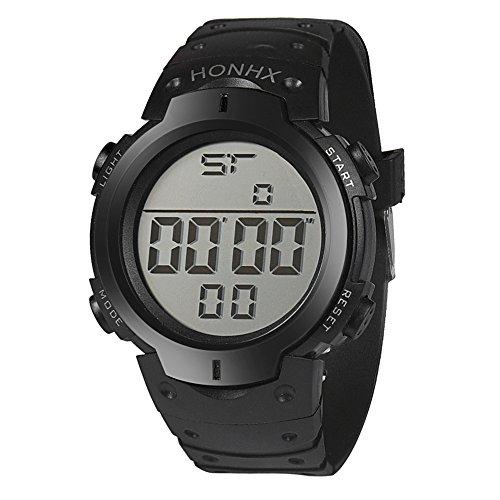 Orologio Da Polso Sportivo In Gomma Con Cronografo Digitale LCD Da Uomo Impermeabile Moda Confortevole (free size, nero)