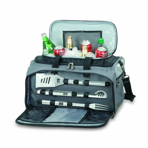ONIVA - a Picnic Time Brand Buccaneer All-In-One Tailgating BBQ Grill/Cooler Set