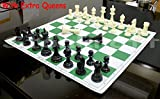 StonKraft 43x43 cm juego de ajedrez plegable de vinilo de torneo de con piezas de...