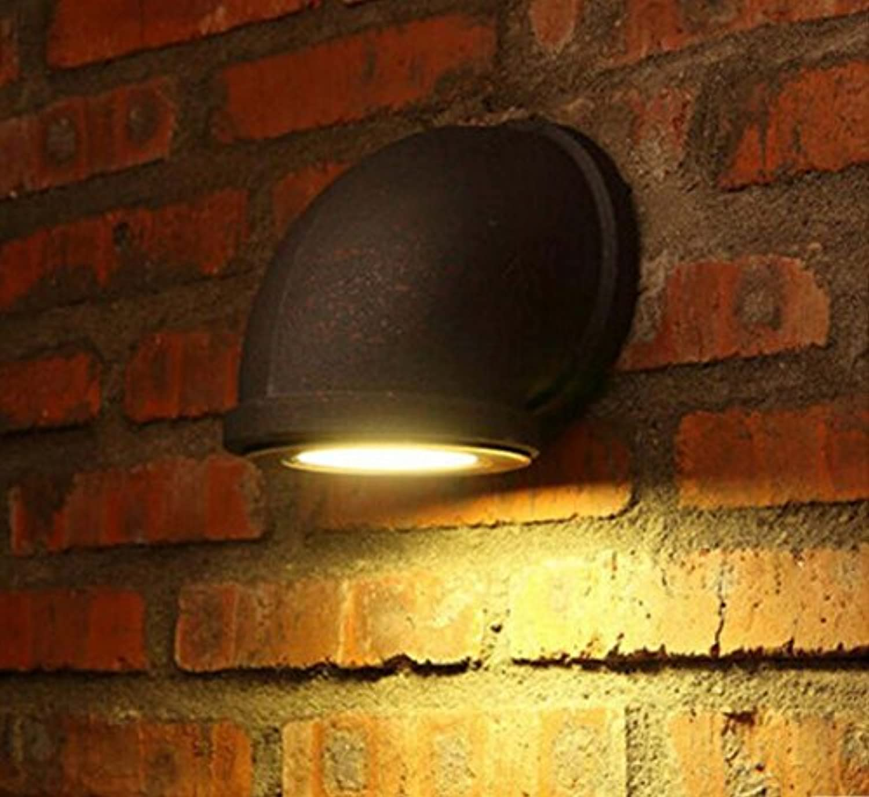 Retro Wandleuchte, kreative Schmiedeeisen einfache Wandleuchte, Loft Aisle Coffee Shop Wandleuchte Durchmesser 90mm (mm) 220 (V) (Farbe   Rust-Big)