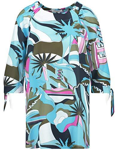 Gerry Weber Damen Tunika Mit Knotendetails Organic Cotton Leger Blau/Lila/Pink Druck 42