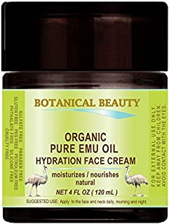 ORGANIC PURE EMU OIL HYDRATION FACE CREAM For Normal - Dry - Sensitive Skin. Moisturized and nourished. 4 Fl. oz. - 120 ml.
