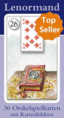 Lenormand Orakelkarten mit Kartenabbildungen: 36 Orakelkarten