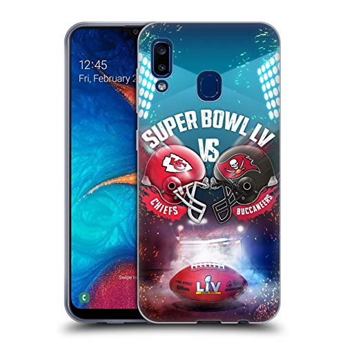 Head Case Designs Officially Licensed NFL Kansas City Chiefs vs Tampa Bay Buccaneers 2021 Super Bowl LV Versus Soft Gel Case Compatible with Samsung Galaxy A20 / A30 2019