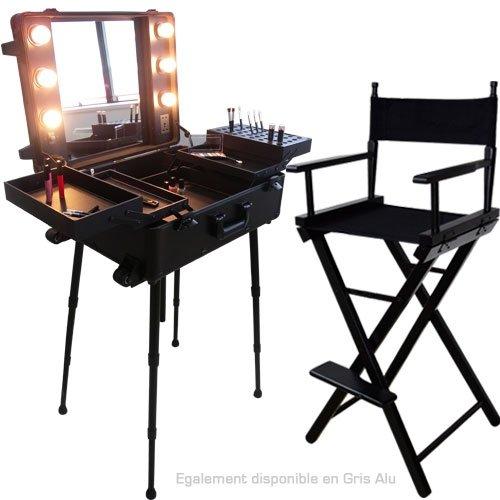 Ensemble Studio Make-up Noir, Table et chaise maquilleur