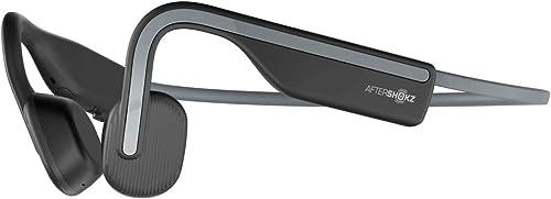 AfterShokz OpenMove Wireless Bone Conduction Headphones Bluetooth Sweat Resistant Earphones with Mic for Sport, Slate...