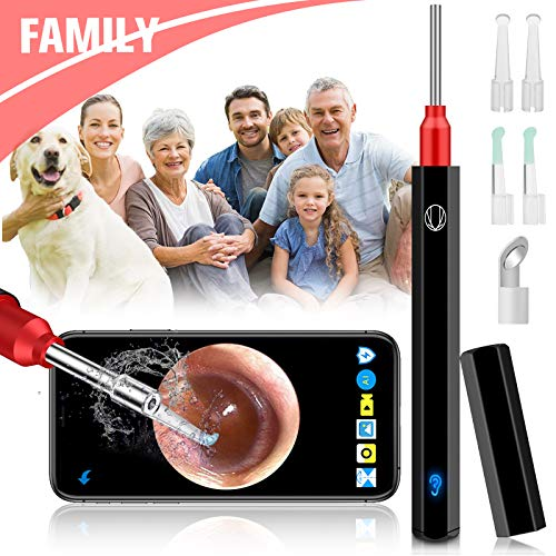 Softula Ear Wax Removal Endoscope,Earwax Remover Tool,1080P FHD Ear Camera Wireless Otoscope with LED Lights,Waterproof Ear Scope Cleaning Camera with 4pcs Ear Spoons Kits for Android iOS Phone Tablet