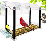 Nature Gear Pure View Hanging Window Bird Feeder - Suspended Design for Crystal Clear Bird Watching - Easily Refillable from Inside Your Home
