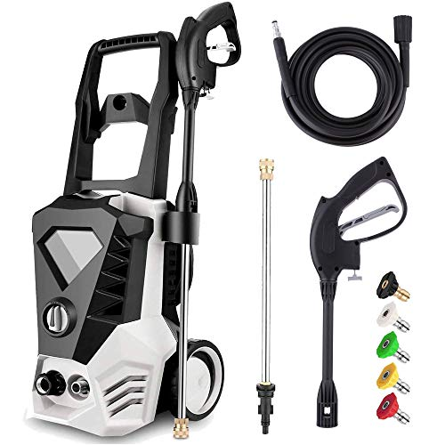 powertec pressure washers Electric Pressure Washer 3500PSI 2.6GPM High Power Washer with 32ft Cable and 5 Quick-Connect Spray Nozzles for Cleaning Homes, Cars, Decks, Driveways, Patios (White)