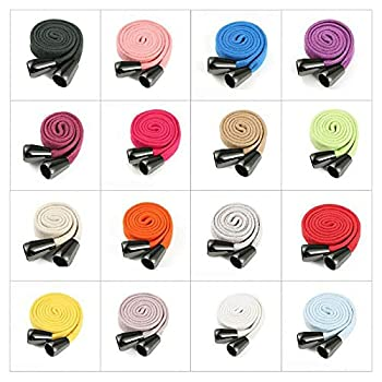 Drawstring Cord Hoodie String Flat Cotton Tape Ribbon Rope,10 & 15mm Wide with Gunmetalmetal Toggles End Stopers,1.5mt+2 Toggles or 3mts+ 4Toggles.26 Colors Lime 10mmCord-1.5m+2 Tog