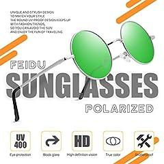 FEIDU Polarised Vintage Sunglasses man - Retro Round Sunglasses Unsiex FD3013 #1