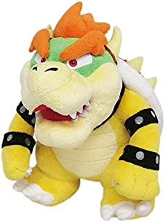 """Little Buddy Super Mario All Star Collection 1423 Bowser Stuffed Plush, 10"""",Multi-Colored"""