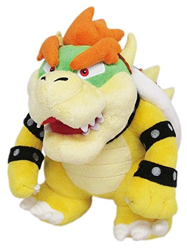 Little Buddy Super Mario All Star Collection 1423 Bowser Stuffed Plush, 10',Multi-Colored