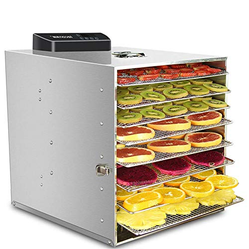 Review Of Food Dehydrator Machine Fruit Meat and Fruit Dryer, 6 floors, stackable, 360 W, adjustable...