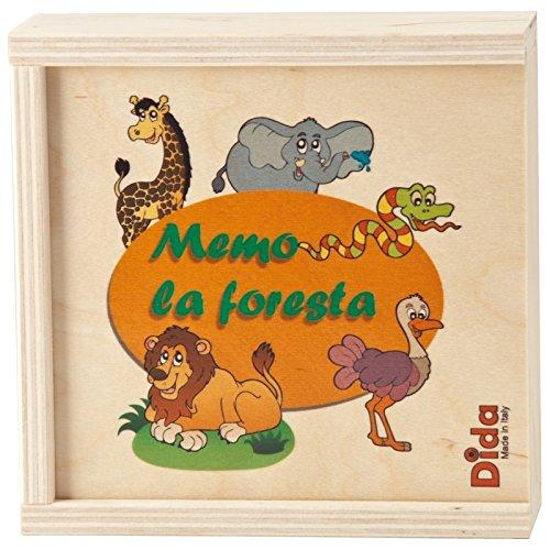 Dida – Mémo Jungle - 20 pièces – Jeux Memory pour Enfant en Bois