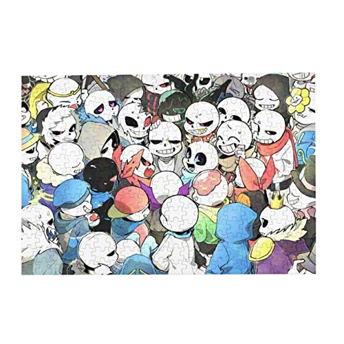 Sans Undertale Picture Puzzle 300 Piece Family Game Intellectual Educational Game for Child or Adult