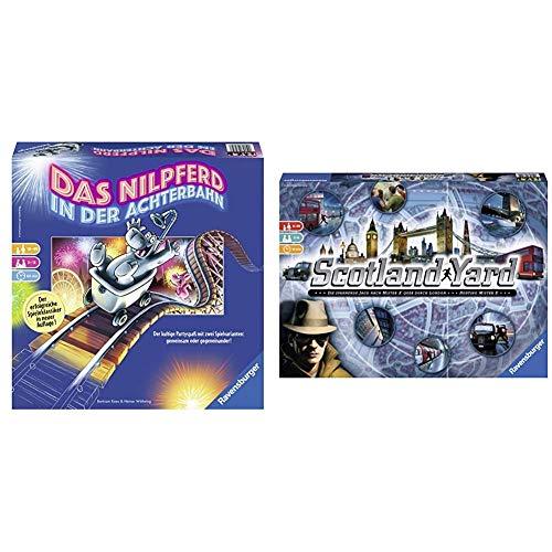 Ravensburger 26772 - Nilpferd in der Achterbahn - Gesellschaftsspiel für die ganze Familie & Scotland Yard, Brettspiel, Gesellschafts- und Familienspiel, für Kinder und Erwachsene, Spiel des Jahres