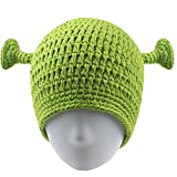 Union Power Shrek Hats with Ears, Adult Cosplay Prop Halloween Cosplay, Green Beanie Hat Gifts