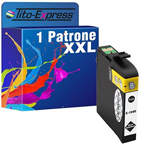 Tito-Express PlatinumSerie 1x Tinten-Patrone XXL TE1590 Gloss Optimizer kompatibel mit Epson Stylus Photo R2000