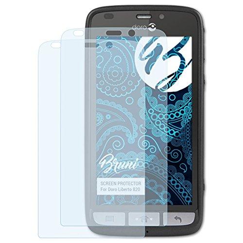 Bruni Schutzfolie kompatibel mit Doro Liberto 820 Folie, glasklare Bildschirmschutzfolie (2X)