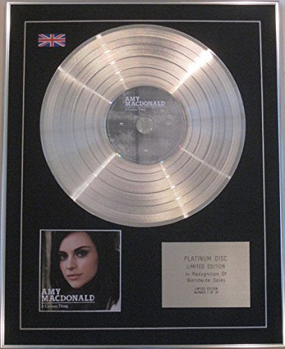 Amy MacDonald – Limited Edition CD Platinum Disc – A curious Was