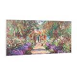 KLARSTEIN Wonderwall Air Art Smart – Calefactor infrarrojo, Panel Calefactor eléctrico, WiFi, Control por App, silencioso, para Colgar en la Pared, 120 x 60cm, 700W, 7-14 m², Camino jardín de Monet