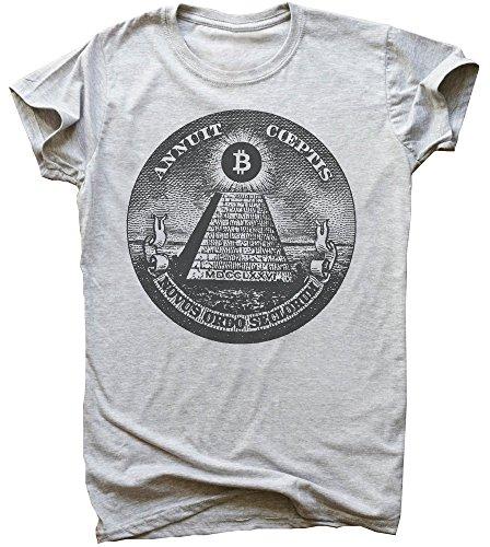 idcommerce Bitcoin Illuminati Pyramid Maglietta da Uomo