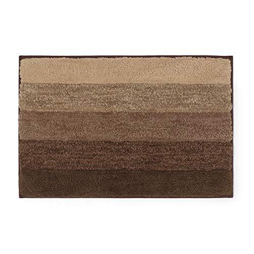 Montse Interiors, S.L. Alfombra Baño/Habitación Microfibra Antideslizante (Victor Marrón, 40x60)