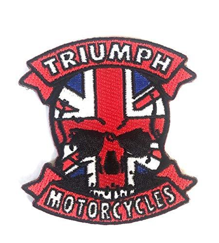 Écusson brodé à coudre ou à coudre Triumph Motorcycles, Union Jack