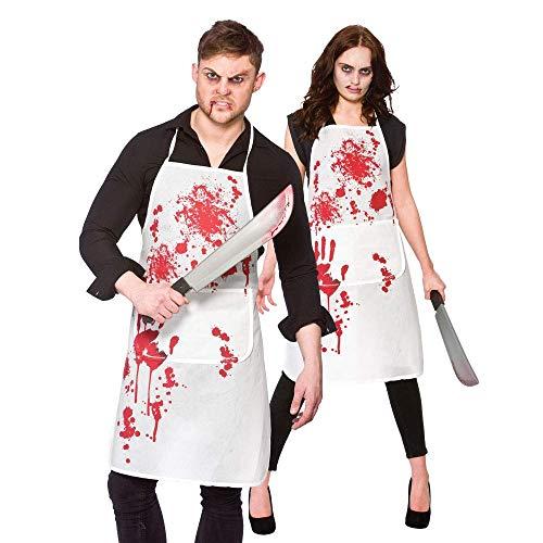 Bloody Apron Unisex Adult Halloween Fancy Dress