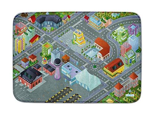 Spielteppich Ultrasoft - Rutschfest 100 x 150 cm (Imagine Airport)