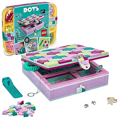 LEGO 41915 Dots LaboîteàBijoux, Bricolage et Artisanat pour Enfants, décoration de Chambre et Accessoires de Bureau