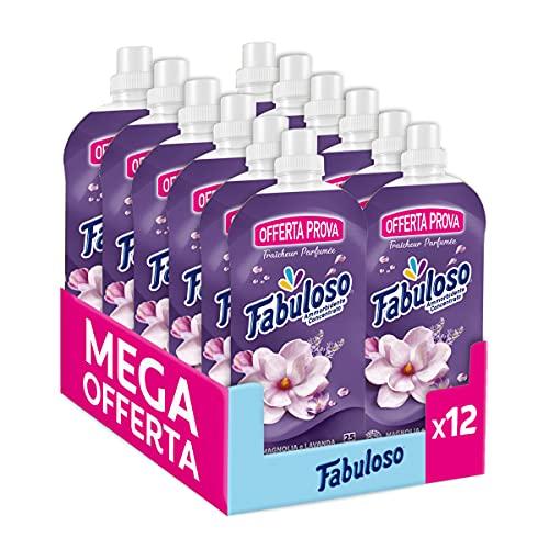 Fabuloso Ammorbidente Lavatrice Concentrato Sensation Magnolia, Bucato Morbido e Fresco 2 volte più a Lungo, 12x585 ml, 300 lavaggi